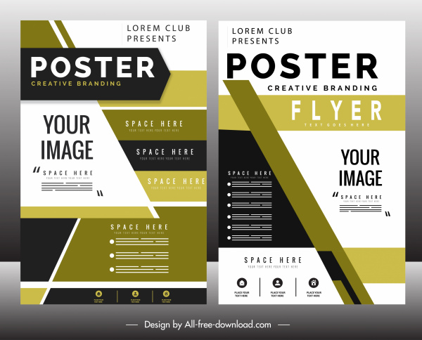 business flyer template colorful modern decor