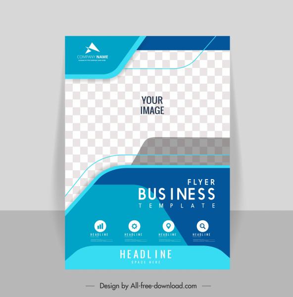 business flyer template elegant checkered decor