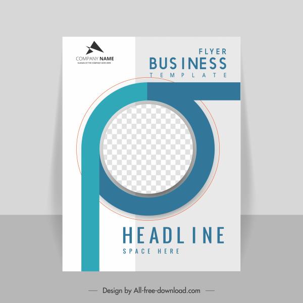 business flyer template modern elegant checkered circle decor