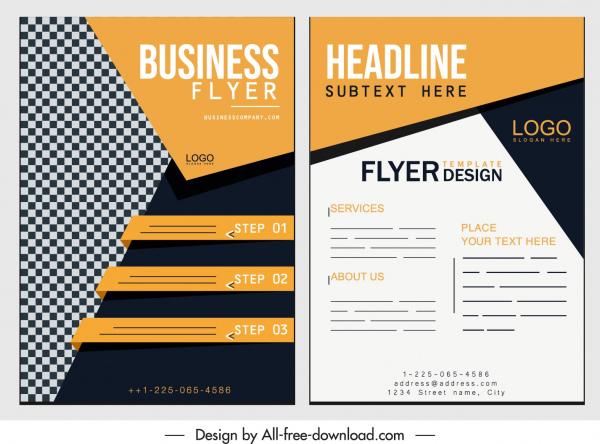 business flyer template modern elegant decor
