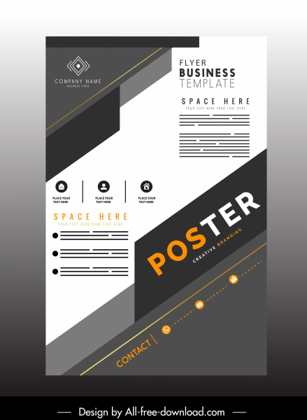 Modern Flyers Template from images.all-free-download.com