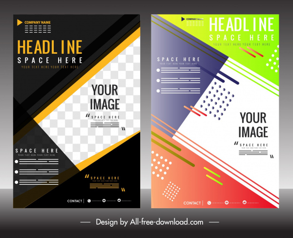 business flyer templates colorful modern layout