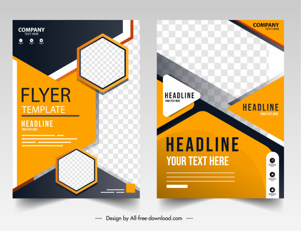business flyer templates elegant geometrical checkered decor