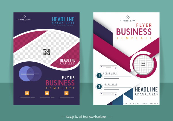 business flyer templates elegant modern dark bright design