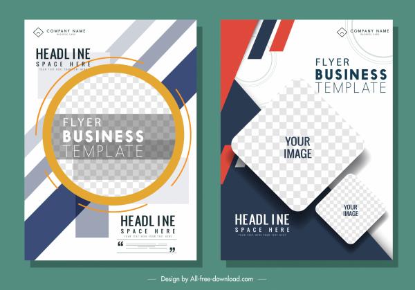 business flyer templates modern bright checkered decor