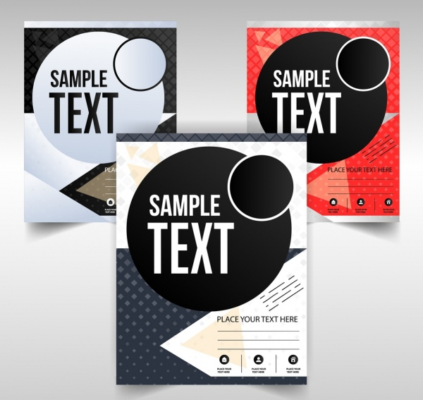 business flyer templates modern geometric decoration