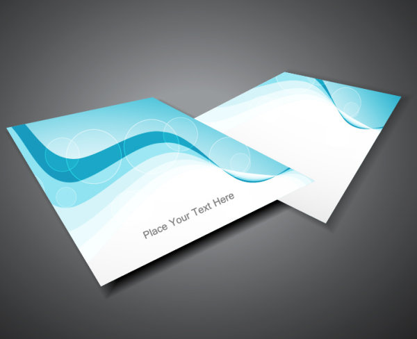business form cover vector set