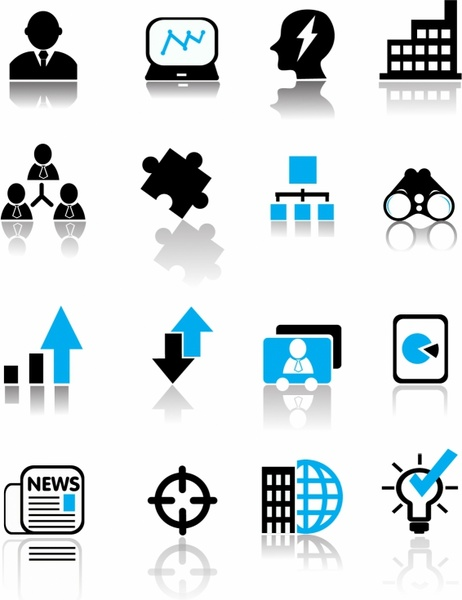 Business Icons Free Vector 843 46kb