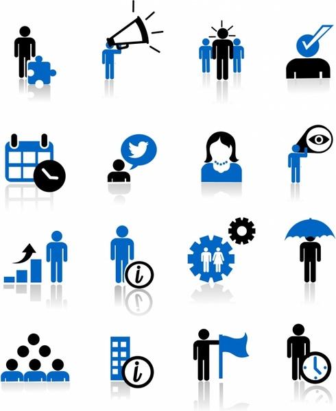 Business metaphor icons