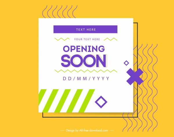 business opening banner elegant bright modern flat decor