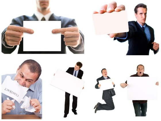 business people holding a blank cardboard highdefinition picture