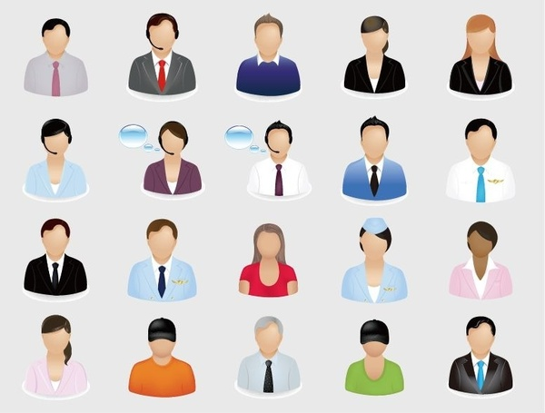 business people vector icon set free vector in water clip art water clip art