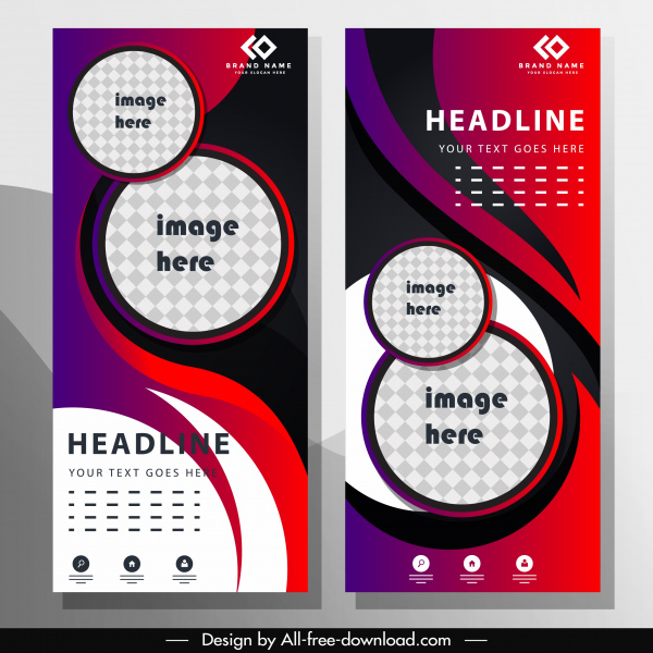 business poster template modern colorful vertical motion decor