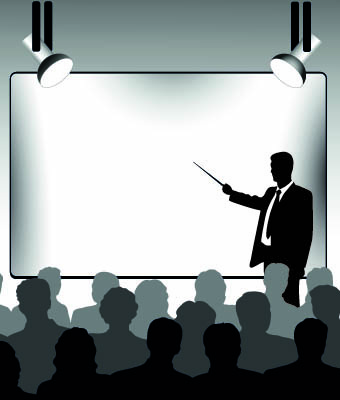 Business presentation vector silhouettes Free vector in ...