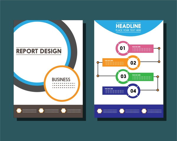 Business report templates circles and infographic styles free vector business report templates circles and infographic styles free vector 84586kb flashek Images