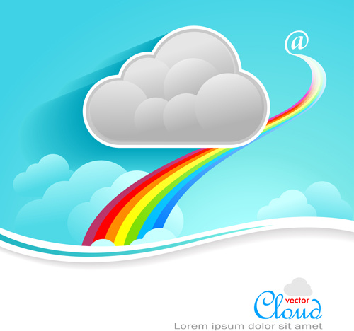 business social template with cloud backgrounds