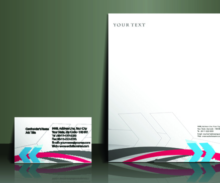 business style flyer and cover brochure vector