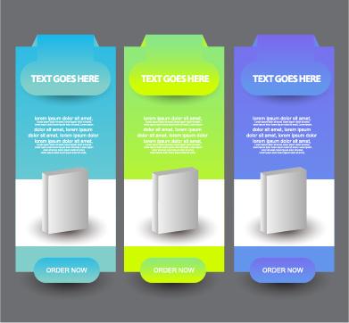 business website banners design vector