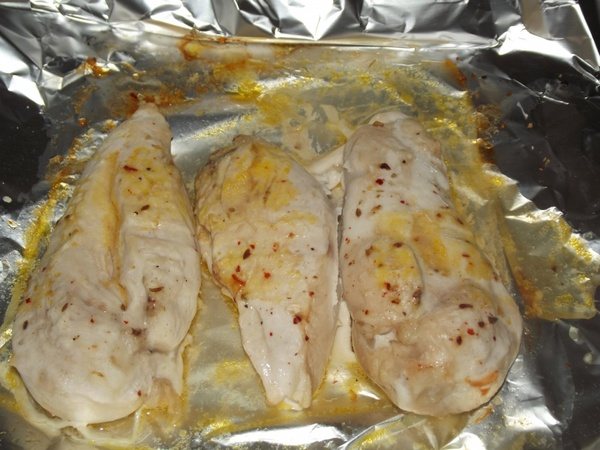 butter and chili baked chicken