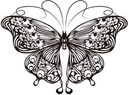 Butterfly outline free vector download (11,079 Free vector ...