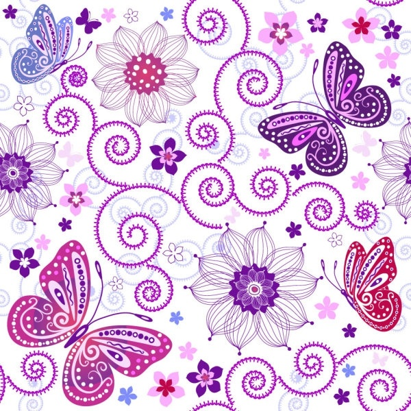 Butterfly Pattern Background 60 Vector Free Vector In Encapsulated Interesting Butterfly Pattern