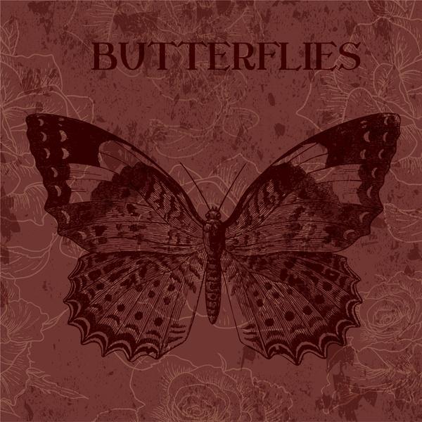 butterfly vintage background