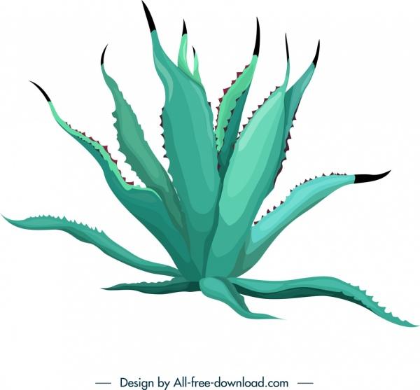 Cactus icon 3d green leaves decor Free vector in Adobe Illustrator