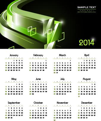 calendar14 vector huge collection5
