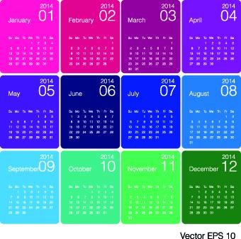 calendar14 vector huge collection