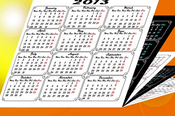 calendar 2013 abstract