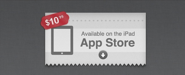 Call to Action Download App Label With Price Tag