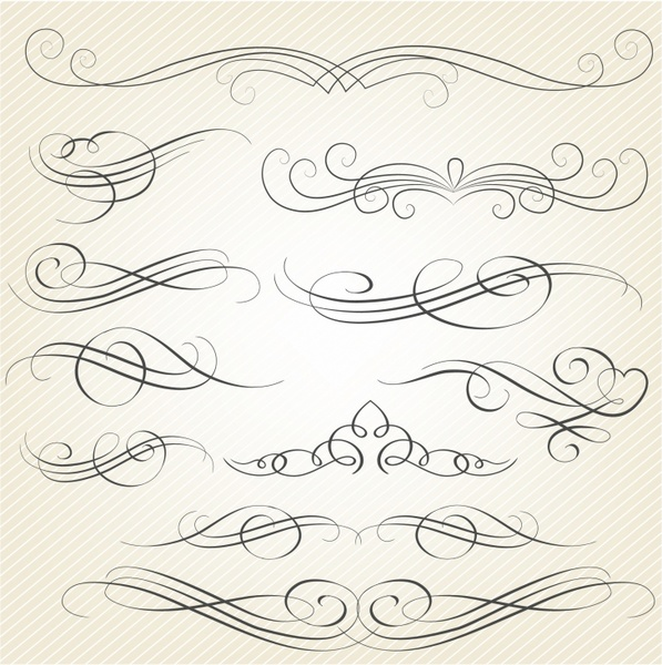 Calligraphy Swirls Free Vector In Adobe Illustrator Ai AI
