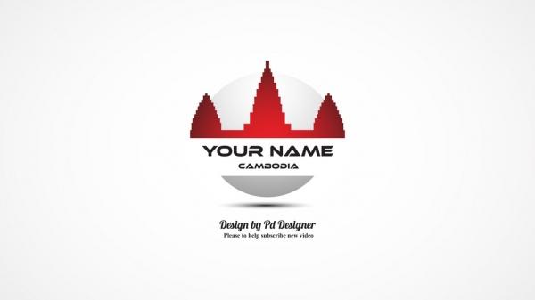 Cambodia international flag design vector idea sign logotype