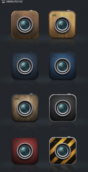 camera lens icon psd layered