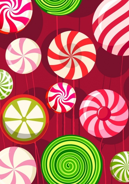 candies background shiny colorful round decor