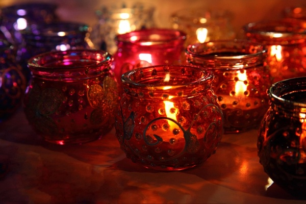 candles in candle holders