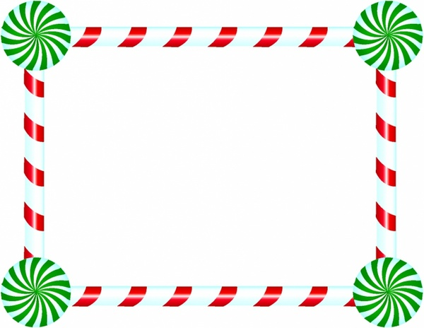 Candy Cane and Peppermint Frame
