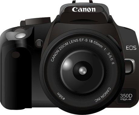 Grunge Camera Vector : Canon350d camera vector free vector in coreldraw cdr .cdr vector