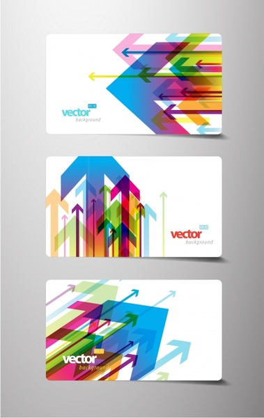 card business card template vector flow arrows