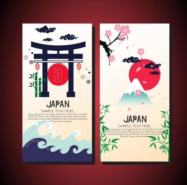 card cover templates japan design elements decoration