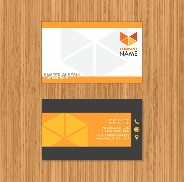Card design business card idea free vector in adobe illustrator ai card design business card idea reheart Images