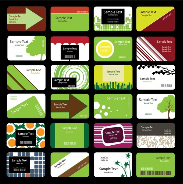 business card templates nature abstract themes colorful decor