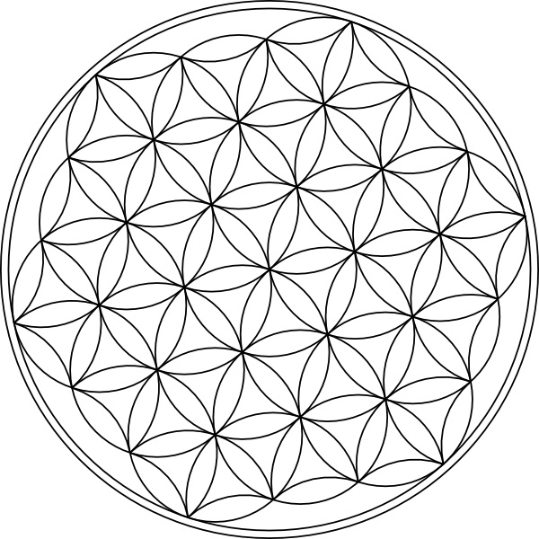 Carlotheman Flower Of Life Symbol Clip Art Free Vector In Open