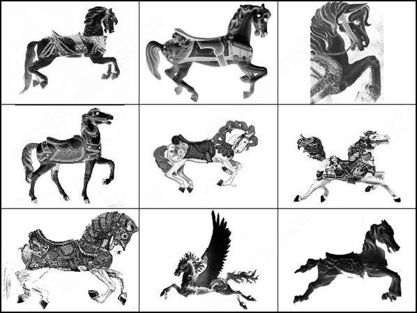 carousel horses brush