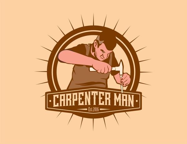 Carpenter Man Free Vector In Encapsulated Postscript Eps Eps