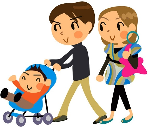 cartoon a family of three vector free vector in encapsulated