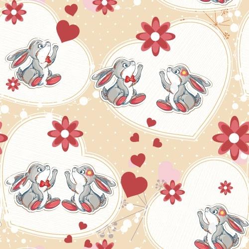 cartoon animal background 01 vector