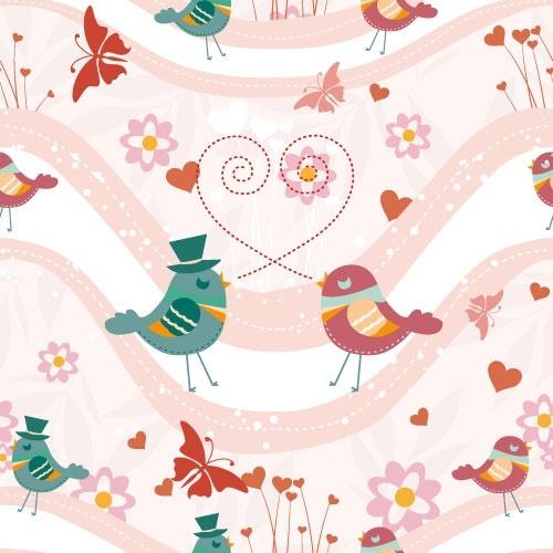 cartoon animal background 05 vector