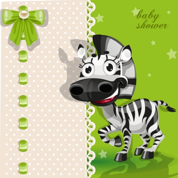 cartoon animal card 01 vector
