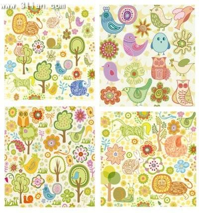 nature background templates colorful classical cartoon design